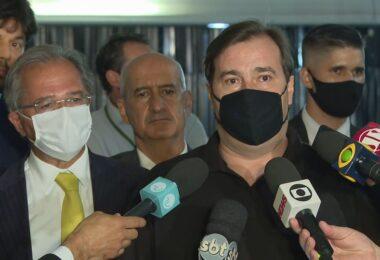 Maia pede desculpas de Guedes e fala em união entre Executivo e Legislativo