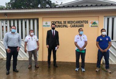 MP-AM fiscaliza hospital e debate medidas contra a pandemia em Carauari