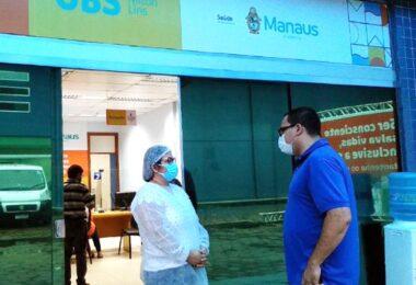 Vereador fiscaliza atendimento de pacientes com Covid-19 em UBSs de Manaus