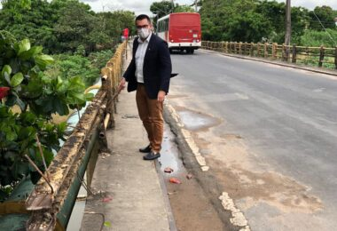 Vereador Rodrigo Guedes solicita reforma completa da Ponte do Bariri, no bairro Presidente Vargas
