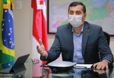 Wilson Lima se reúne com presidente da Câmara para discutir orçamento para o combate à Covid-19