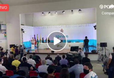 AO VIVO | Prefeito David Almeida destaca ações dos 100 primeiros dias de sua gestão na Prefeitura de Maanus