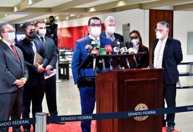 Senadores da base do governo avaliam positivamente audiência da CPI da Pandemia