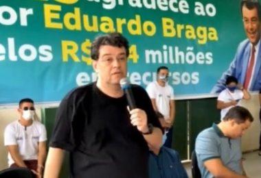 Em Silves, Eduardo Braga antecipa campanha eleitoral e afirma que é a 'esperança de dias melhores'; veja vídeo