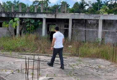 MP-AM investiga obra abandonada de escola municipal em Lábrea