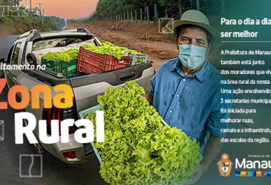 Para o dia a dia ser melhor: Zona rural ganha obras e outras ações