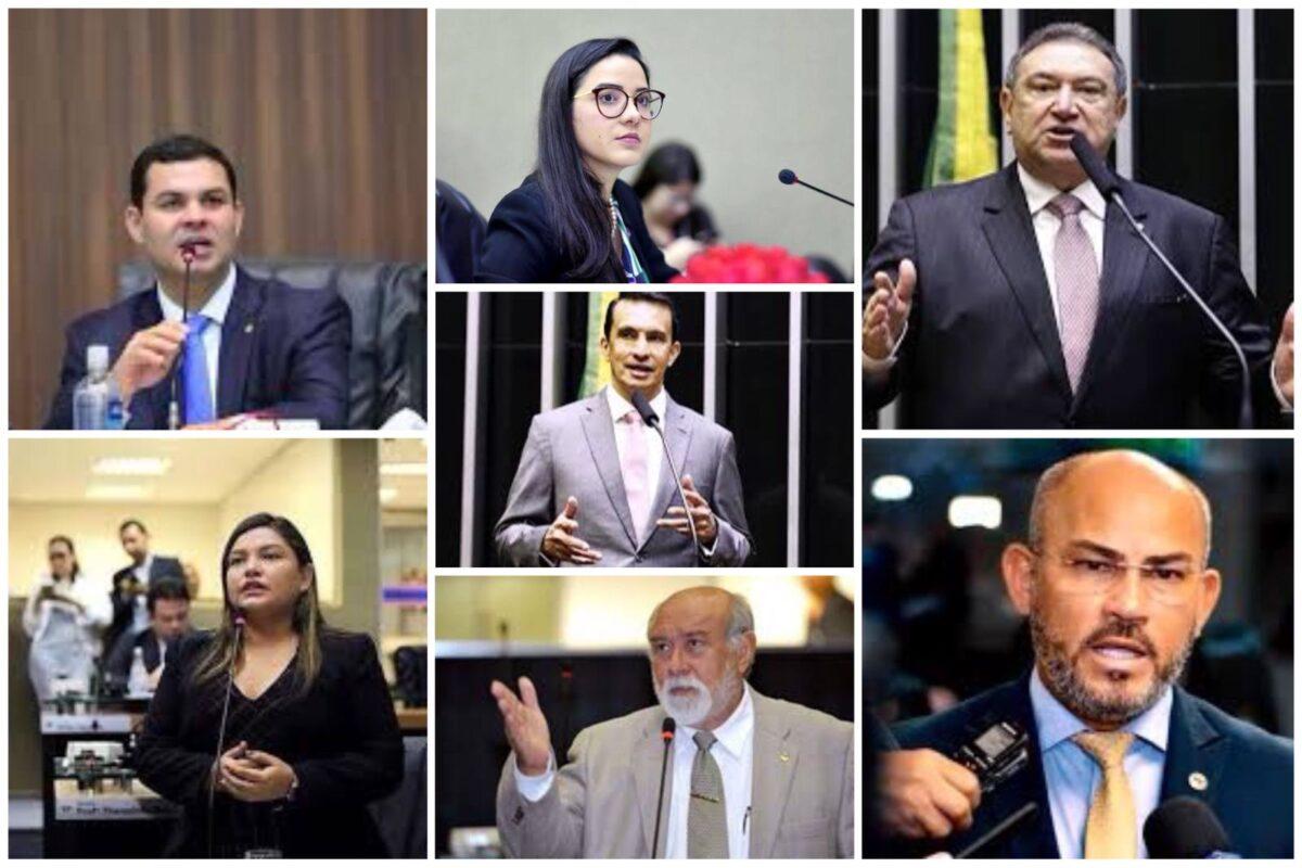 Imagens divulgação dos parlamentares