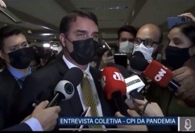 Flávio Bolsonaro afirma que pai vai rir das acusações do relatório da CPI da Pandemia