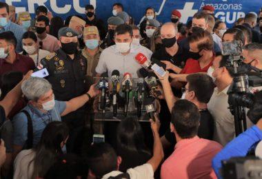Deputados e vereadores marcaram presença em evento de Segurança Pública ao lado de Wilson Lima