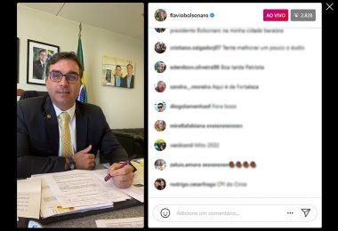 Flávio Bolsonaro rebate indiciamento e diz que vai enviar ao MP 20 crimes cometidos por Renan na CPI